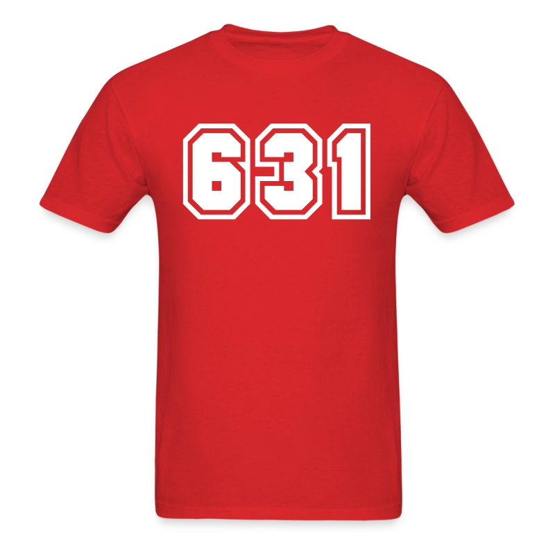 Area Code 631 Shirt by New York Old School  - Men's T-Shirt