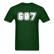T-Shirts ~ Men's T-Shirt ~ Area Code 607 Shirt by New York Old School