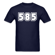 T-Shirts ~ Men's T-Shirt ~ Area Code 585 Shirt by New York Old School