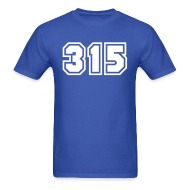 T-Shirts ~ Men's T-Shirt ~ Area Code 315 Shirt by New York Old School