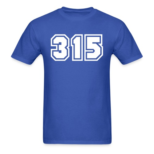 Area Code 315 Shirt by New York Old School  - Men's T-Shirt