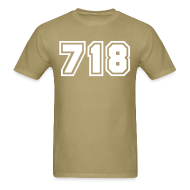 T-Shirts ~ Men's T-Shirt ~ Area Code 718 Shirt by New York Old School
