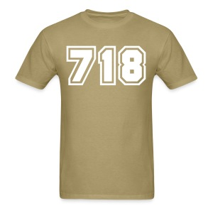Area Code 718 Shirt by New York Old School  - Men's T-Shirt
