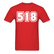 T-Shirts ~ Men's T-Shirt ~ Area Code 518 Shirt by New York Old School
