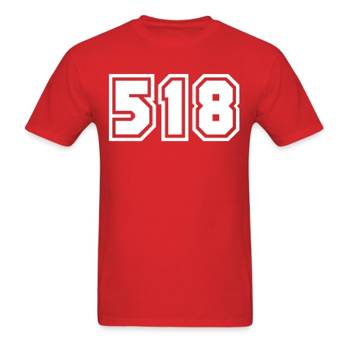 Area Code 518 Shirt by New York Old School  - Men's T-Shirt