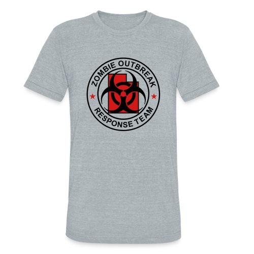 1-UTLogo-MTri-Full (Black & Red) - Unisex Tri-Blend T-Shirt