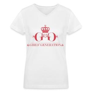 [SNSD] Girls' Generation Crown - Women's V-Neck T-Shirt