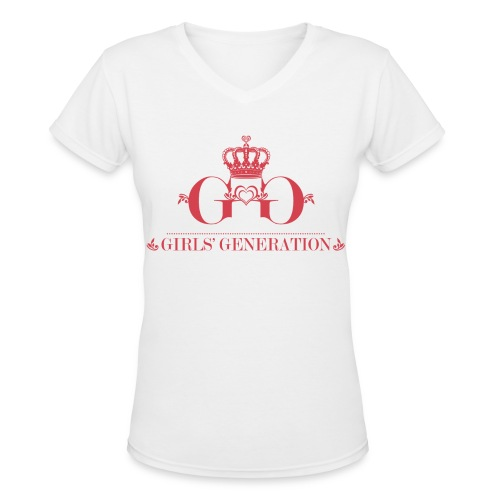 [SNSD] Girls' Generation Crown - Women's V-Neck T-Shirt