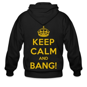 [AS] Keep Calm & Bang! - Men's Zip Hoodie