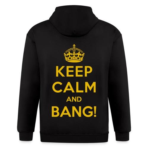 [AS] Keep Calm & Bang! - Men's Zip Hoodie