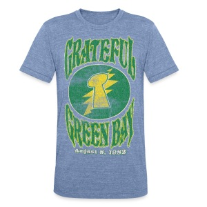 Grateful Green Bay - Unisex Tri-Blend T-Shirt by American Apparel