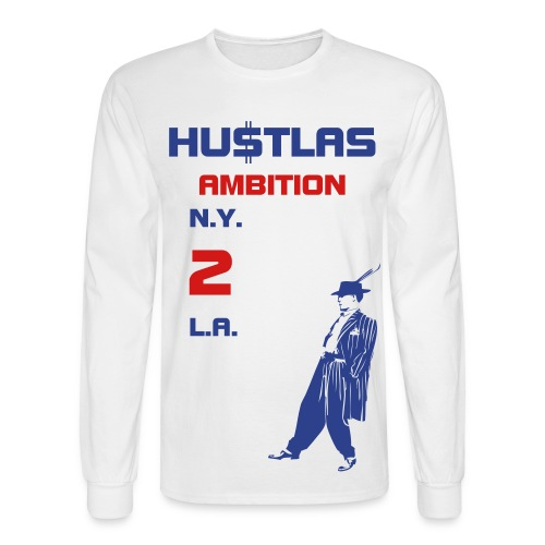 INTERNATIONAL HU$TLA - Men's Long Sleeve T-Shirt