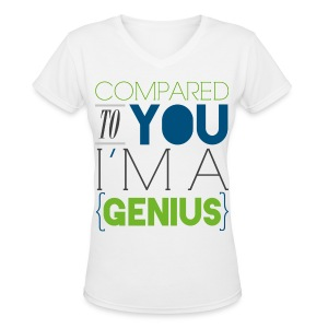 [SUJU] Compared to You I'm a Genius - Women's V-Neck T-Shirt