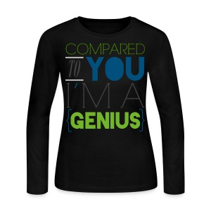 [SUJU] Compared to You I'm a Genius - Women's Long Sleeve Jersey T-Shirt