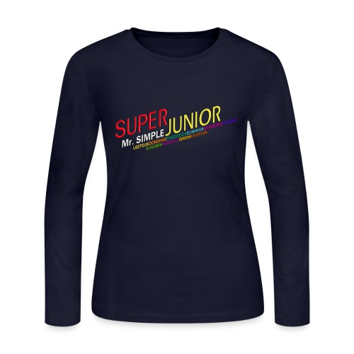 [SUJU] Mr. Simple - Women's Long Sleeve Jersey T-Shirt