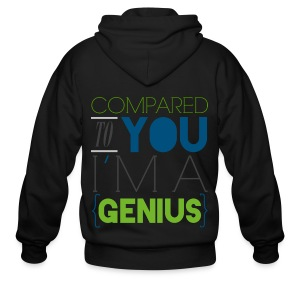 [SJ] Compared to You, I'm a Genius - Men's Zip Hoodie