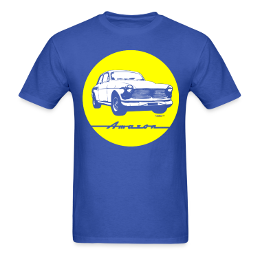 Yellow on blue Volvo Amazon tee