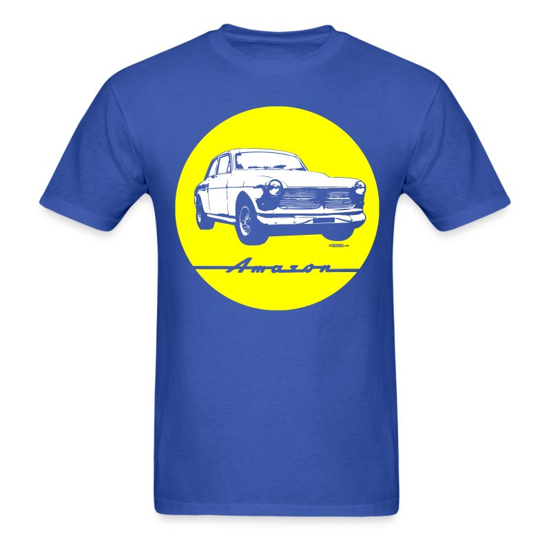 yellow on blue volvo amazon tee t shirt spreadshirt. Black Bedroom Furniture Sets. Home Design Ideas