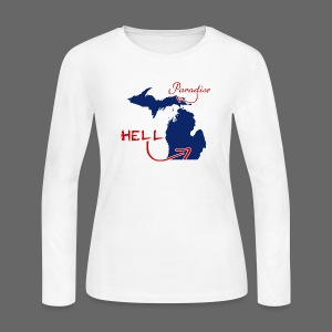 Paradise and Hell - Women's Long Sleeve Jersey T-Shirt