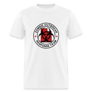 2-UTLogo-MStd-Full (Black & Red) - Men's T-Shirt