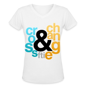 [FTI] Cross & Change - Women's V-Neck T-Shirt
