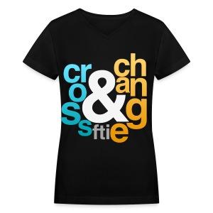 [FTI] Cross & Change - Women's V-Neck T-Shirt