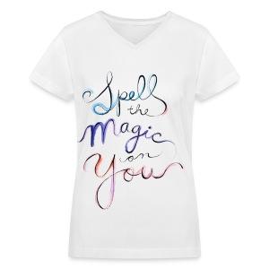 [OW] Spell the Magic - Women's V-Neck T-Shirt