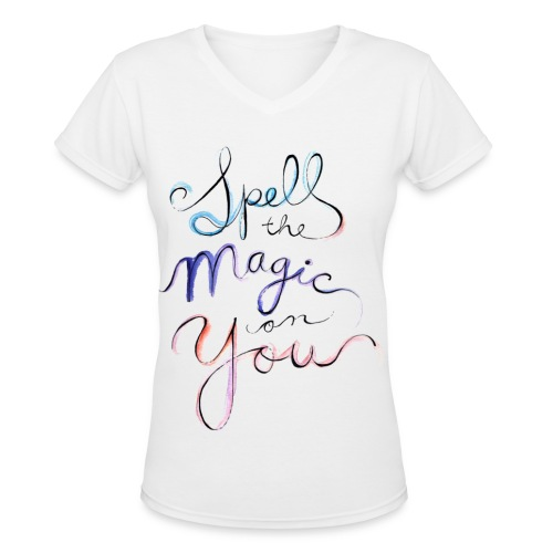 [OW] Spell the Magic - Women's V-Neck T-Shirt
