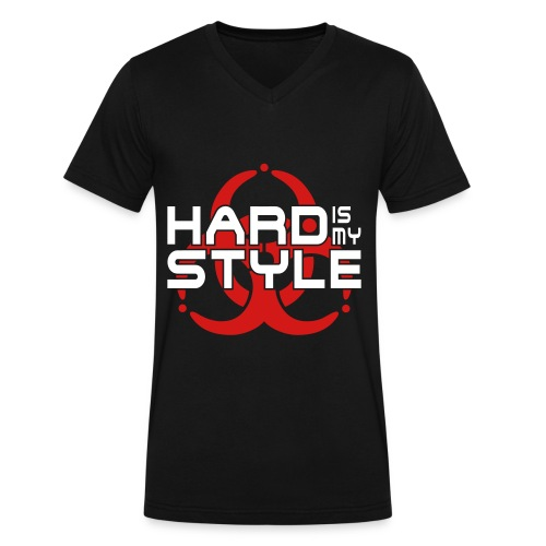 Hardstyle Rave Shirt - Men's V-Neck T-Shirt by Canvas