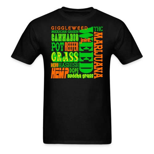 Weed Word Soup - Men's T-Shirt