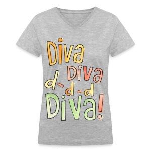 [AS] Diva - Women's V-Neck T-Shirt