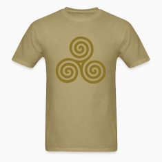 TRIPLE SPIRAL right | Men's standard weight shirt