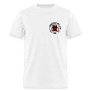 2-UTLogo-MStd (Black & Red) - Men's T-Shirt