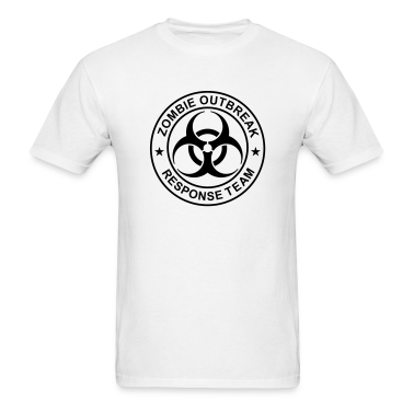 "ZORT Generic 1-Color Zombie 6.8""x T-Shirts"