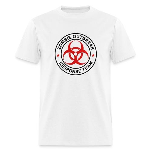 1-ULogo-MStd-Full (Black & Red) - Men's T-Shirt