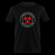 T-Shirts ~ Men's T-Shirt ~ 1-ULogo-MStd-Full (Silver& Red)