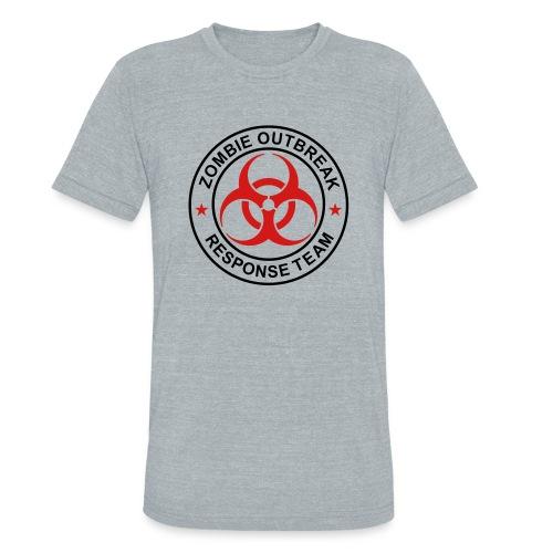 1-ULogo-MTri-Full (Black & Red) - Unisex Tri-Blend T-Shirt
