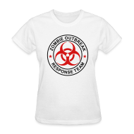 T-Shirts ~ Women's T-Shirt ~ 1-ULogo-FStd-Full (Black & Red)