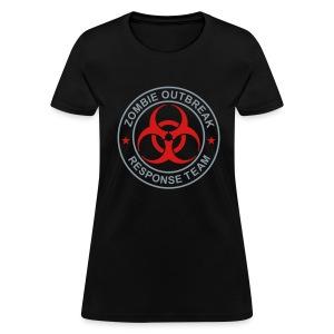 1-ULogo-FStd-Full (Silver & Red) - Women's T-Shirt