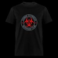 T-Shirts ~ Men's T-Shirt ~ 2-ULogo-MStd-Full (Silver & Red)