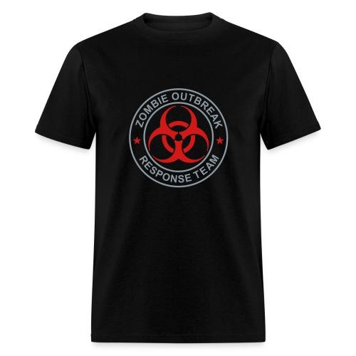 2-ULogo-MStd-Full (Silver & Red) - Men's T-Shirt