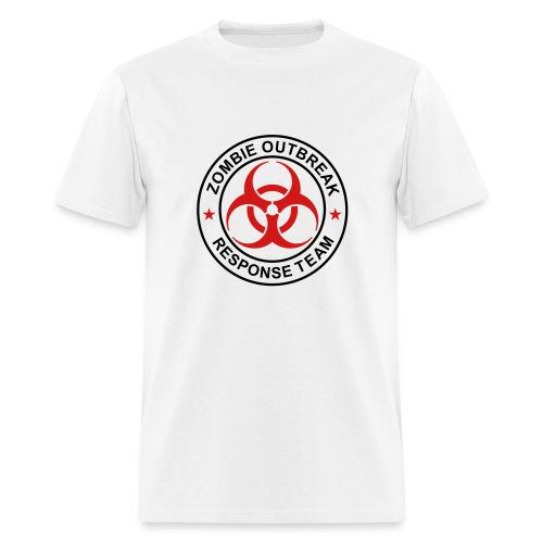 2-ULogo-MStd-Full (Black & Red) - Men's T-Shirt
