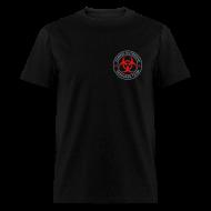 T-Shirts ~ Men's T-Shirt ~ 2-ULogo-MStd (Silver& Red)