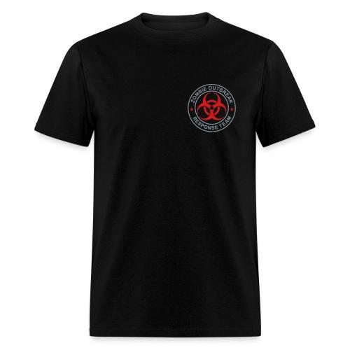 2-ULogo-MStd (Silver& Red) - Men's T-Shirt