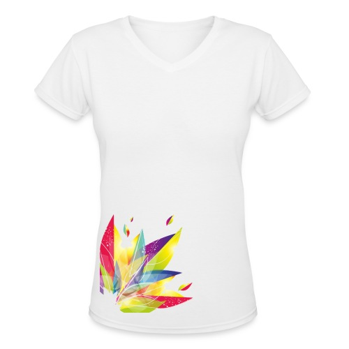 Beautifully Colorful Shirt - Women's V-Neck T-Shirt