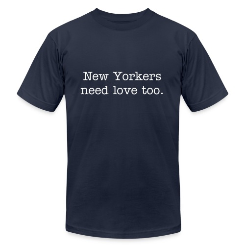 Show the New Yorkers some love  - Men's Fine Jersey T-Shirt