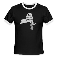 T-Shirts ~ Men's Ringer T-Shirt by American Apparel ~ I'm with Stupid (NJ)
