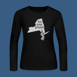 I'm with Stupid (NJ) - Women's Long Sleeve Jersey T-Shirt