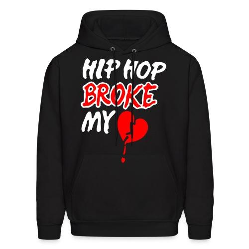 Hip Hop Broke my Heart - Men's Hoodie