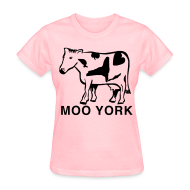 Women's T-Shirts ~ Women's T-Shirt ~ Moo York Shirt by New York Old School
